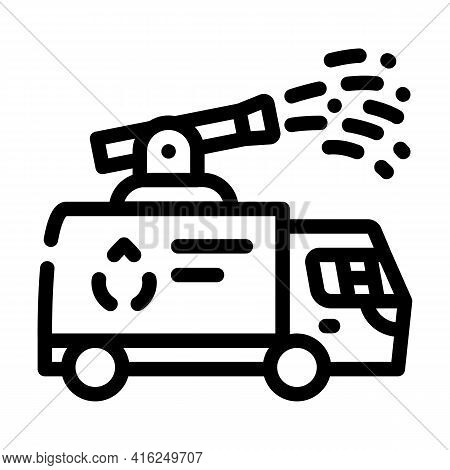 Water Jet Protest Meeting Line Icon Vector. Water Jet Protest Meeting Sign. Isolated Contour Symbol