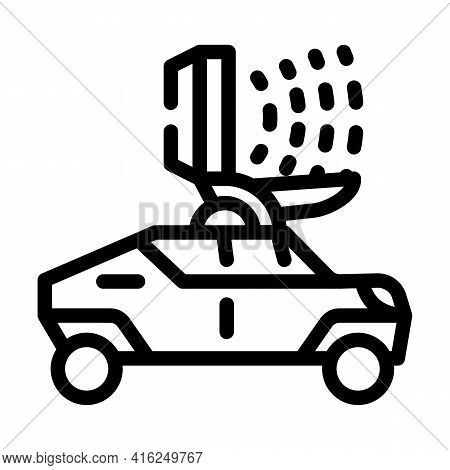 Microwave Gun Line Icon Vector. Microwave Gun Sign. Isolated Contour Symbol Black Illustration