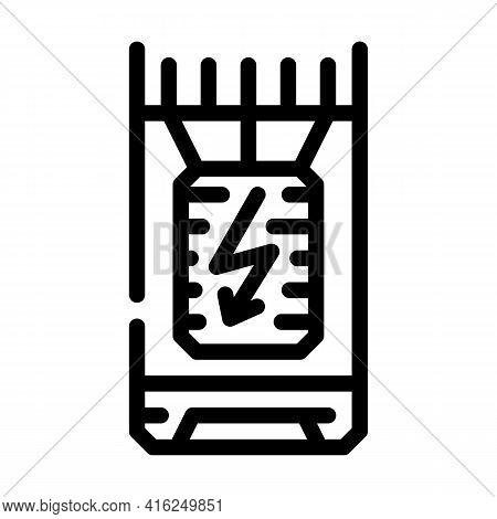 Bullet Stun Gun Line Icon Vector. Bullet Stun Gun Sign. Isolated Contour Symbol Black Illustration