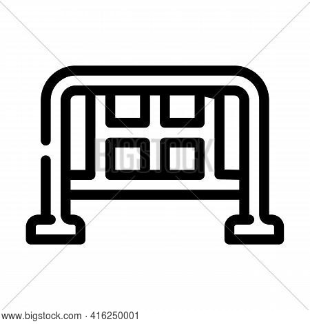 Barrier Protest Meeting Line Icon Vector. Barrier Protest Meeting Sign. Isolated Contour Symbol Blac