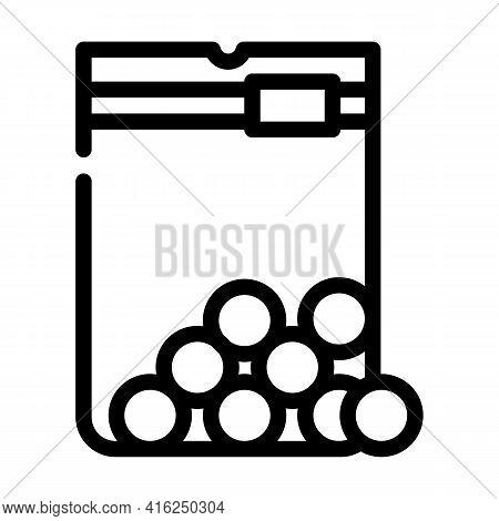 Sugar Balls Sweetener Line Icon Vector. Sugar Balls Sweetener Sign. Isolated Contour Symbol Black Il