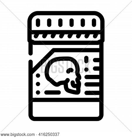 Poison Package Line Icon Vector. Poison Package Sign. Isolated Contour Symbol Black Illustration