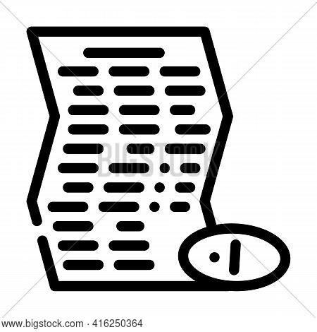 Instruction Pills Line Icon Vector. Instruction Pills Sign. Isolated Contour Symbol Black Illustrati