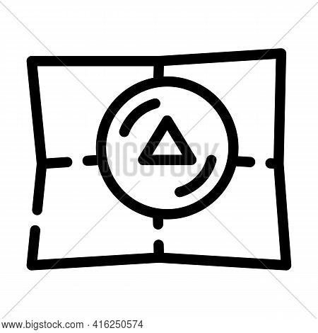 Bookmark Pills Line Icon Vector. Bookmark Pills Sign. Isolated Contour Symbol Black Illustration