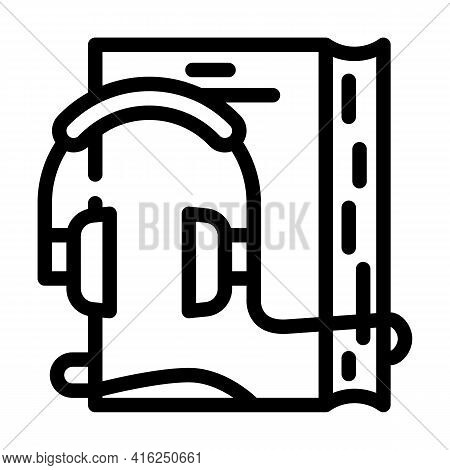Audiobook For Self Study Line Icon Vector. Audiobook For Self Study Sign. Isolated Contour Symbol Bl