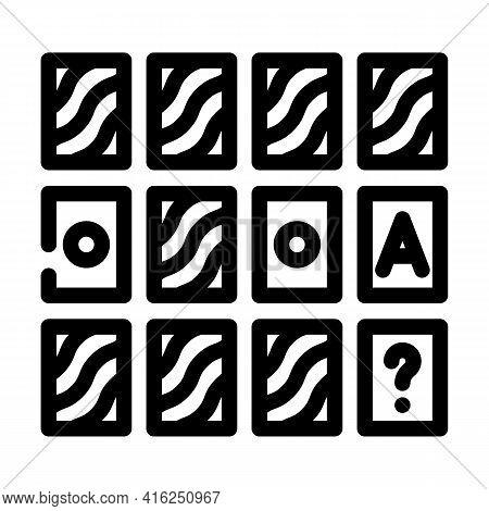 Memory Training Line Icon Vector. Memory Training Sign. Isolated Contour Symbol Black Illustration