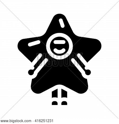 Costume Event Glyph Icon Vector. Costume Event Sign. Isolated Contour Symbol Black Illustration