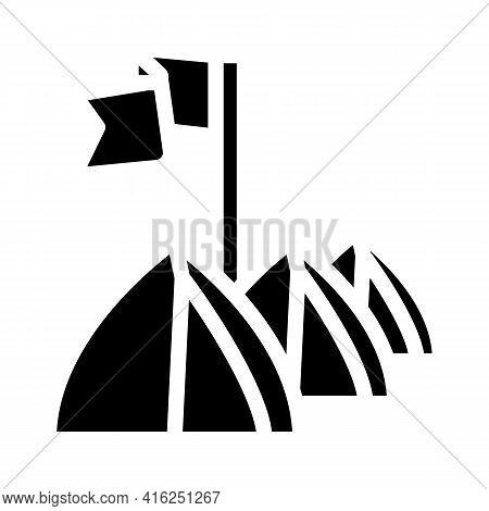 Tent Festival Event Glyph Icon Vector. Tent Festival Event Sign. Isolated Contour Symbol Black Illus