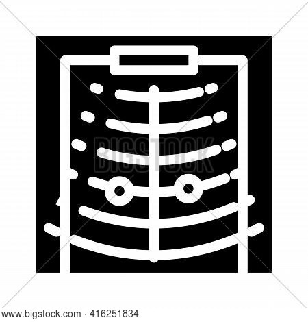 Sound Sensor For Blind People Glyph Icon Vector. Sound Sensor For Blind People Sign. Isolated Contou