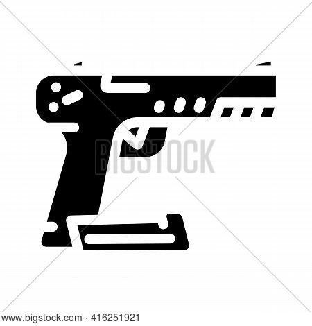 Traumatic Weapon Protest Meeting Glyph Icon Vector. Traumatic Weapon Protest Meeting Sign. Isolated