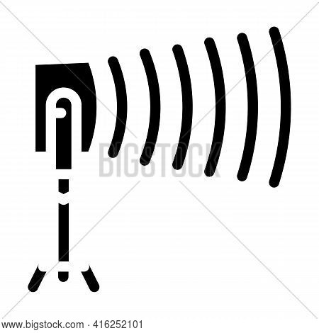 Long-range Acoustic Device Protest Meeting Glyph Icon Vector. Long-range Acoustic Device Protest Mee