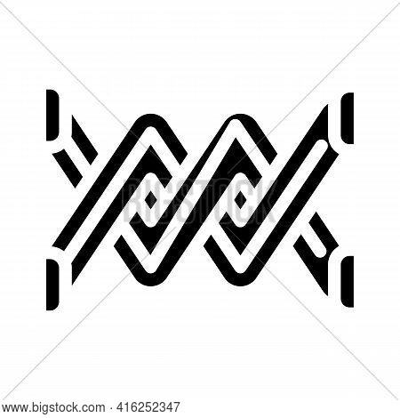 Spike Protest Meeting Glyph Icon Vector. Spike Protest Meeting Sign. Isolated Contour Symbol Black I