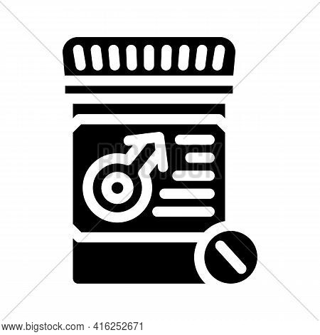 Potency Pills Glyph Icon Vector. Potency Pills Sign. Isolated Contour Symbol Black Illustration