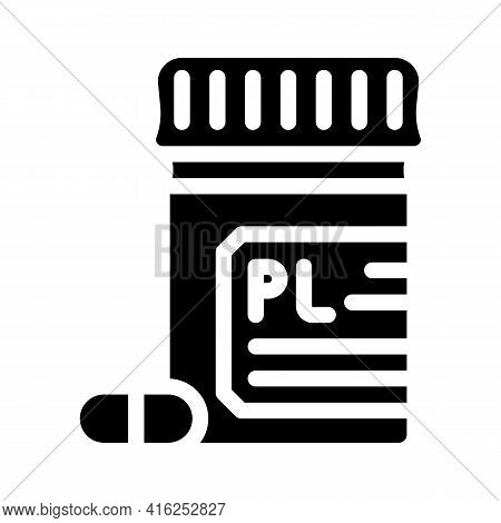 Placebo Pills Glyph Icon Vector. Placebo Pills Sign. Isolated Contour Symbol Black Illustration
