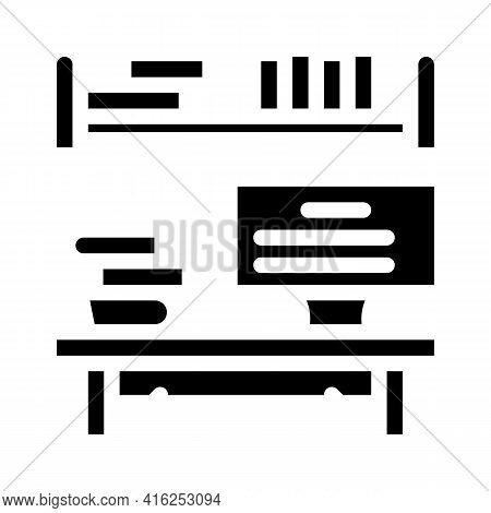Place To Study Glyph Icon Vector. Place To Study Sign. Isolated Contour Symbol Black Illustration
