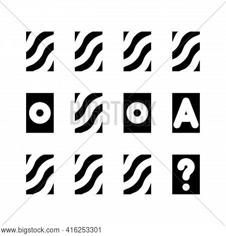 Memory Training Glyph Icon Vector. Memory Training Sign. Isolated Contour Symbol Black Illustration