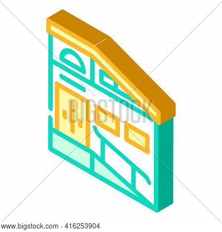 Building Ramp Isometric Icon Vector. Building Ramp Sign. Isolated Symbol Illustration