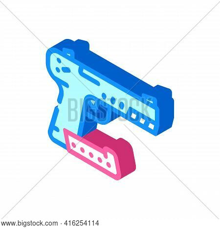 Traumatic Weapon Protest Meeting Isometric Icon Vector. Traumatic Weapon Protest Meeting Sign. Isola