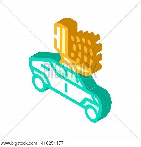 Microwave Gun Isometric Icon Vector. Microwave Gun Sign. Isolated Symbol Illustration