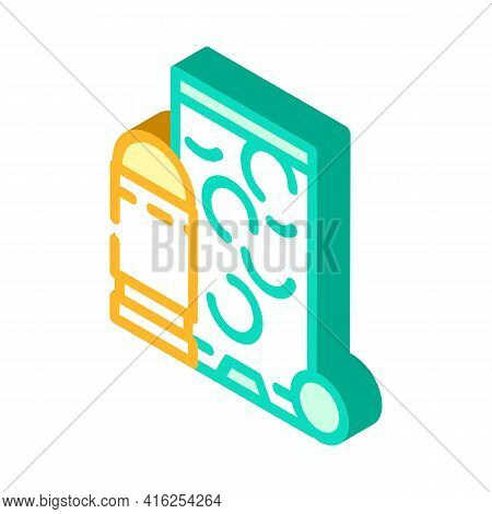 Rubber Bullets Protest Meeting Isometric Icon Vector. Rubber Bullets Protest Meeting Sign. Isolated