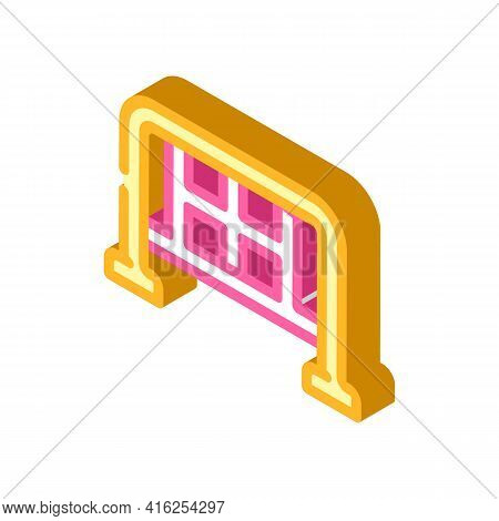 Barrier Protest Meeting Isometric Icon Vector. Barrier Protest Meeting Sign. Isolated Symbol Illustr