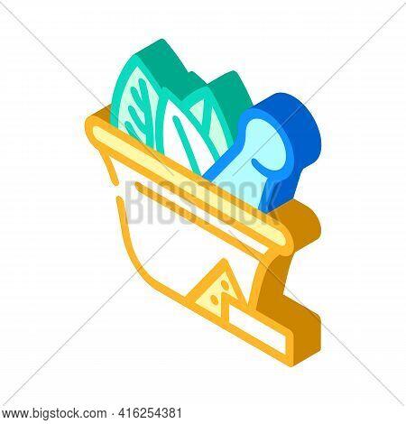 Bowl For Make Pills Isometric Icon Vector. Bowl For Make Pills Sign. Isolated Symbol Illustration