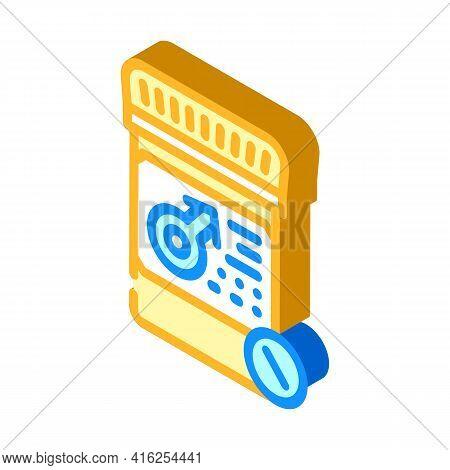 Potency Pills Isometric Icon Vector. Potency Pills Sign. Isolated Symbol Illustration