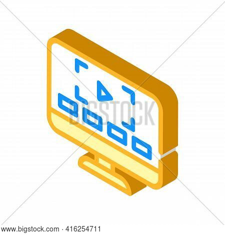 Video Lessons Isometric Icon Vector. Video Lessons Sign. Isolated Symbol Illustration