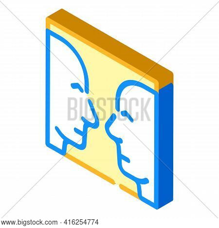 Search For Images Isometric Icon Vector. Search For Images Sign. Isolated Symbol Illustration