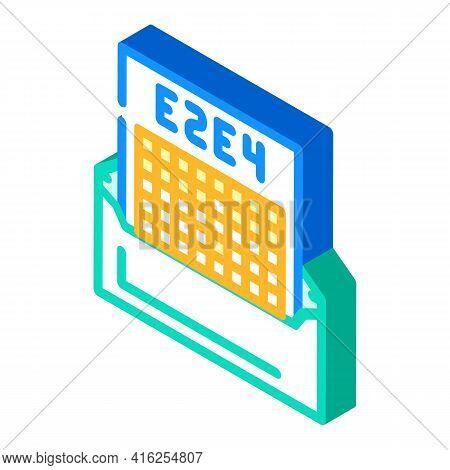 Correspondence Chess Isometric Icon Vector. Correspondence Chess Sign. Isolated Symbol Illustration