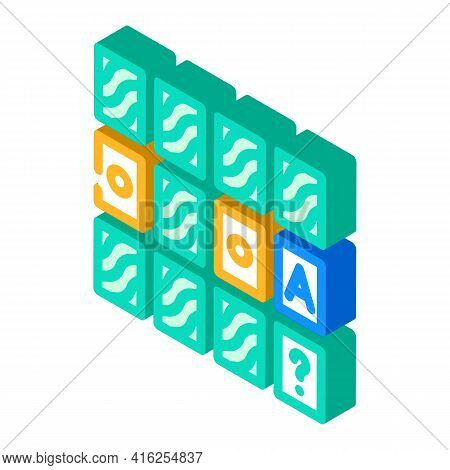 Memory Training Isometric Icon Vector. Memory Training Sign. Isolated Symbol Illustration