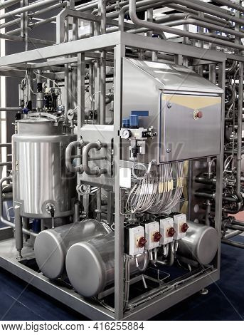 Tubular Aseptic Uht Pasteurizer With Vacuum Deaerator. Food Industry