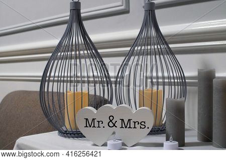 Wedding Decoration Mr And Mrs Love Decor Ceremony