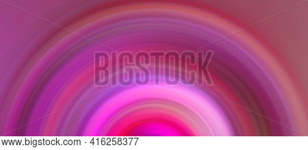 Abstract Round Pink Background. Circles From The Center Point. Image Of Diverging Circles. Rotation