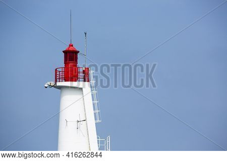 Lighthouse Of St Malo Againts Blue Sky, Brittany, France