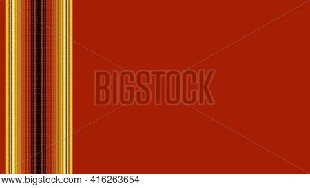 Ethnic Mexican Blanket Pattern. Vector Detailed Serape Design. Background With Copy Space For Text.
