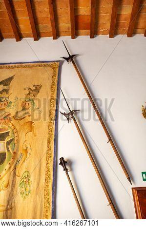 October 12, 2018.interior Inside The Villa Graziani Near The Town Of Vada In The Tuscan Region.tusca