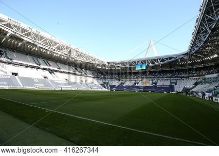 Torino, Italy. 07 April 2021. General View Of Allianz Stadium  Of   During The Serie A Match Between