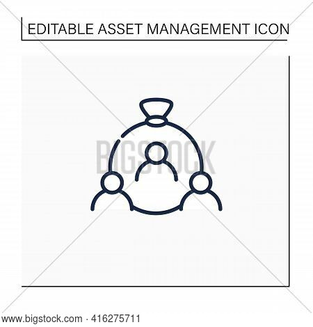 Human Capital Line Icon. Habits, Knowledge, Social And Personality Attributes. Special Features Help