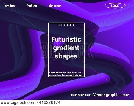 Abstract Liquid Form Of Liquid Color. Creative Vector Concept.