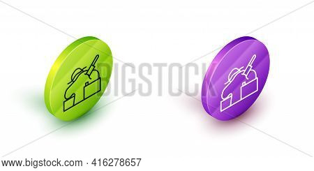 Isometric Line Murder Icon Isolated On White Background. Body, Bleeding, Corpse, Bleeding Icon. Conc