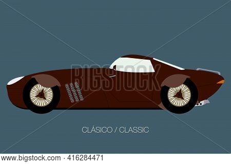 Vector Side View Of Car, Side View Of Car, Automobile, Motor Vehicle