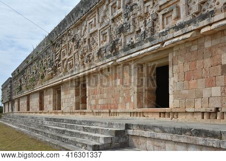 Governor's Palace - Uxmal, Yucatan Peninsula, Mexico. The Governor's Palace Is One Of The Most Admir