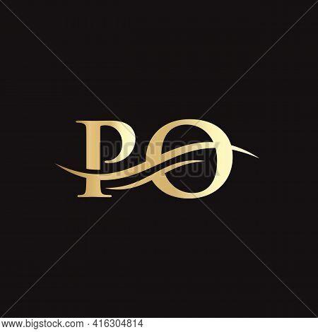 Po Letter Logo. Initial Po Letter Business Logo Design Vector Template