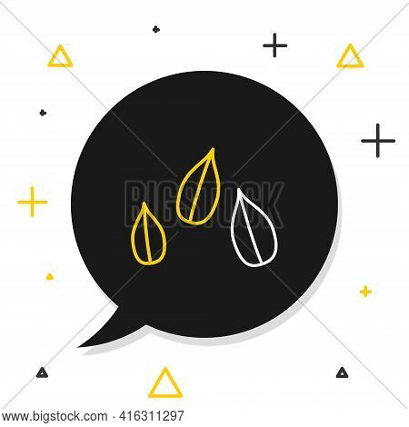 Line Sesame Seeds Icon Isolated On White Background. Colorful Outline Concept. Vector