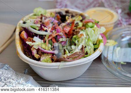 Burrito bowl Mexican take away food