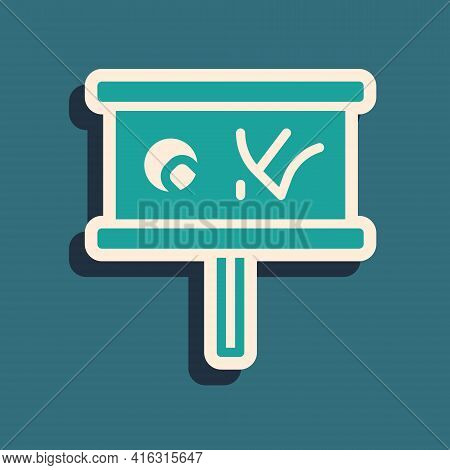 Green Planning Strategy Concept Icon Isolated On Green Background. Baseball Cup Formation And Tactic