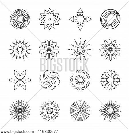 Design Elements Set Abstract Icons. Vector Art.