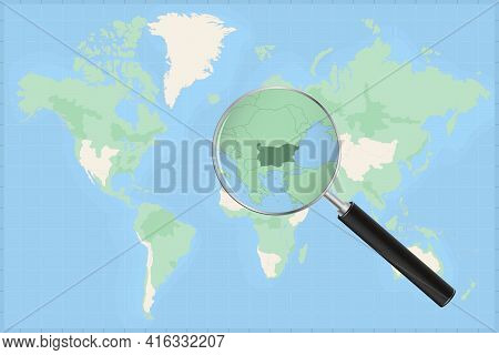 Map Of The World With A Magnifying Glass On A Map Of Bulgaria Detailed Map Of Bulgaria And Neighbori