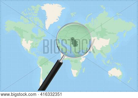 Map Of The World With A Magnifying Glass On A Map Of Serbia Detailed Map Of Serbia And Neighboring C